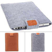 2016 High quality Fashion Felt Pure Color Pad/Laptop Case Pad/Laptop Protection Cover Liner Sleeve For man women student