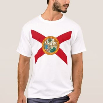 T Shirt with Flag of Florida State USA