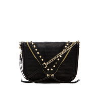 she + lo Next Chapter Zip Crossbody in Black Perf
