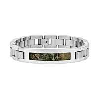 Stainless Steel Camouflage Bracelet - Men (Brown)