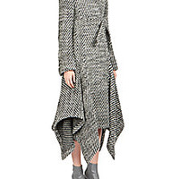 Stella McCartney - Claudine Asymmetrical Tweed Coat - Saks Fifth Avenue Mobile