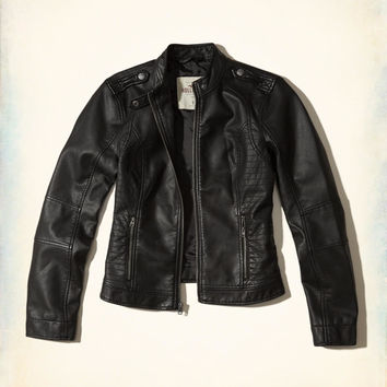 Girls Vegan Leather Moto Jacket | Girls Jackets & Coats | HollisterCo.com