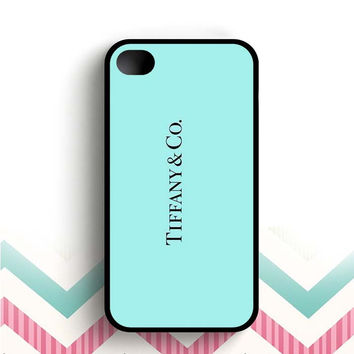 Color Branding Tiffany Blue Box Logo  iPhone 4 and 4s case