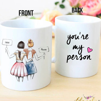 Personalized Best Friend Gift, - You're my person - Unique Friendship Gift, BFF Gift, Best Friend Birthday Gift, Mug coffee, Christmas gift