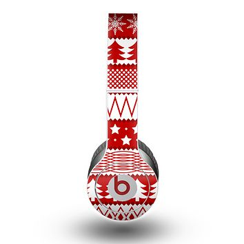 The Red and White Christmas Pattern Skin for the Beats by Dre Original Solo-Solo HD Headphones