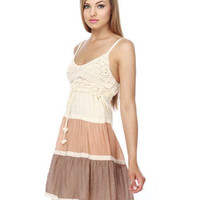 Summery Crochet Color Block Dress - $43.00