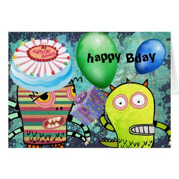 Happy Kids Custom Birthday Greeting Cards
