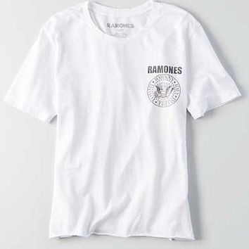 AEO Band T-Shirt , Fresh White