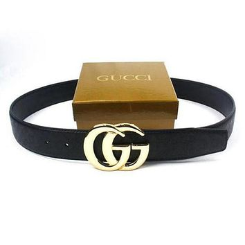 Bailianyi : GUCCI Woman Fashion Smooth Buckle Belt Leather Belt