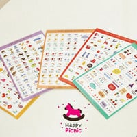 6 Sheets Cartoon Lovely Scrapbooking Diary Deco Phone Sticker Adhesive Chic 3C