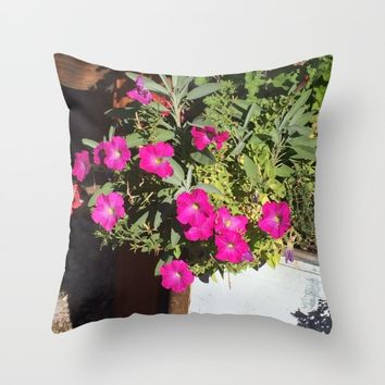 Magenta Throw Pillow by Jessica Ivy