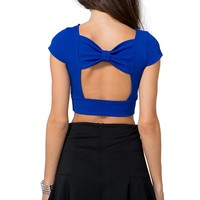 Chic Chain Cut-Out Crop Top