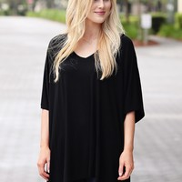 Black PIKO Slouchy Oversized Top