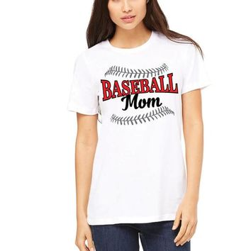 Baseball Mom Tshirt, Mom Ladies Game Day White Tee Shirt, Baseball Mom. Baseball Mom Tee. Baseball Laces. Baseball Life. Womens Sports Shirt