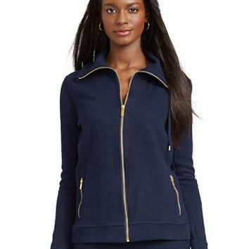 Lauren Ralph Lauren French-Rib Track Jacket