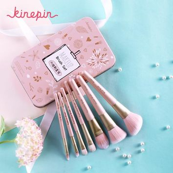 KINEPIN Premium Makeup Brush Set High Quality Soft Natural Horse Pony Synthetic Hair Portable Makeup Artist Brush with Case