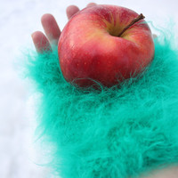 Made To Order / Handmade Premium Longhair Angora mittens/gloves, hand knit, SUPER FLUFFY