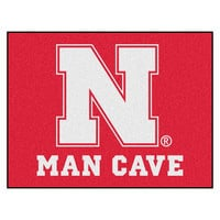 Nebraska Cornhuskers NCAA Man Cave All-Star Floor Mat (34in x 45in)