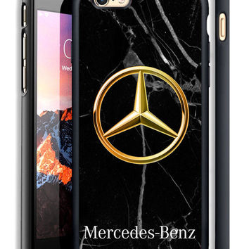 Marble Mercedes Benz Gold Fit Hard Case For iPhone 6 6s Plus 7 8 Plus X Cover