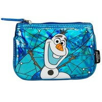 Frozen Olaf Stained Glass Faux Leather Coin Bag