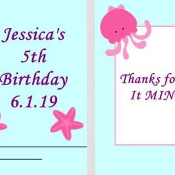 20 Mermaid and Friends Birthday Party Matchbook Mint Favors