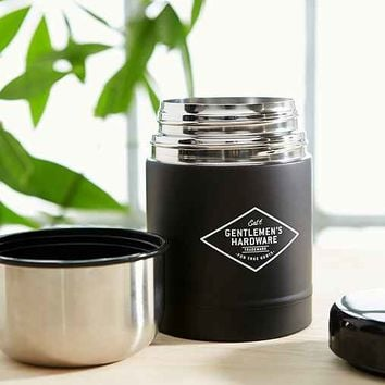 Gentlemen's Hardware Adventure Begins Food Flask- Black One