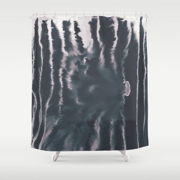 F-Tie dye- blue & white Shower Curtain by DuckyB