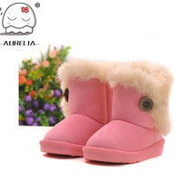 Girls' Winter Boots Snow With -resistant cotton-