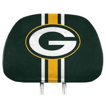 Green Bay Packers 2-Pack Color Print Auto Car Truck Headrest Covers