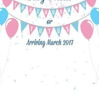Custom Baby Shower Backdrop Touchdowns or Tutus Gender Reveal Background (ANY TEXT) Baby Shower Birthday - C0145