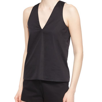 Norman Silky Jersey Top, Size: