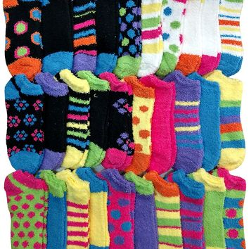Womens Fuzzy Socks Crew Socks, Warm Butter Soft by excell