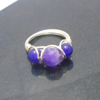 Wire Wrapped Amethyst Ring, Amethyst Ring, Amethyst Jewellery, Birthstone Jewellery, Chakra Jewellery, Unique Gift for Her, Gift for Women