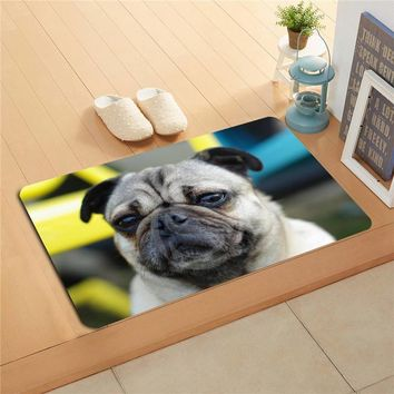 Autumn Fall welcome door mat doormat W620#6 Custom Pug Puppy Pet Dog Watercolor Painting   Home Decor  Floor Mat Bath Mats foot pad F-#5 AT_76_7