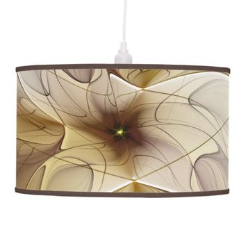 Floral Fantasy Pattern Abstract Fractal Art Ceiling Lamp