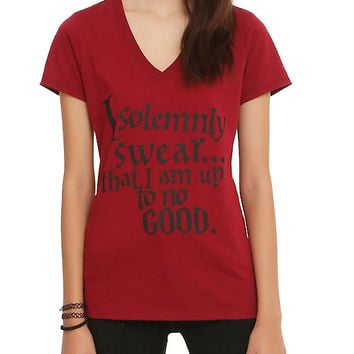 Harry Potter Solemnly Swear Girls V-Neck T-Shirt