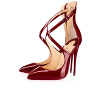 Marlenarock 120 Carmin Patent Leather - Women Shoes - Christian Louboutin