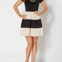Stone Pleated Bombshell Dress