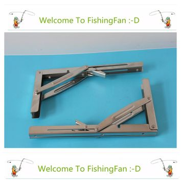 2pcs Wall Mounted Folding Table Shelf Support Bracket Spring Pair Thicken 304 Stainless Steel Table Bracket