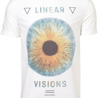 White Eye Print Crew Neck Tee - Mens T-shirts & Tank Tops  - Clothing