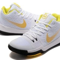 Nike Kyrie Irving 3 White/Yellow/Black Shoe