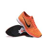 """""""Nike Flyknit Racer"""" Men Sport Casual Fly Knit Multicolor Sneakers Running Shoes"""