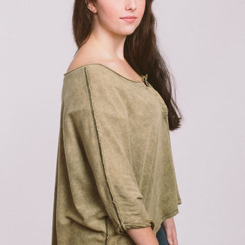 Free People First Base Henley - Moss
