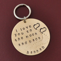 GIFT Key Chain- I Love You To The M.. on Luulla
