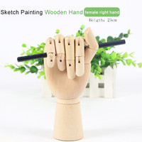 Wooden Hand Model Wood Hand Model Hand Painting Hand Model Artists Sketch Artist Hand Model DIY Hand for Display Wooden Mannequin Display