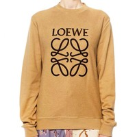 LOEWE Autumn Popular Women Casual Jacquard Knit Pullover Top Sweater Sweatshirt
