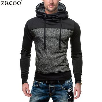 ZACOO 2017 Autumn Winter Fashion New Black Cloak Hooded Male Streetwear Hip Hop Long Hoodies Clothing Men Sweatshirt Cool Man