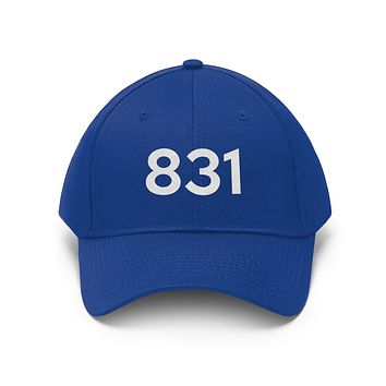 California 831 Area Code Embroidered Twill Hat