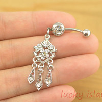 stunning bellybutton jewelry,boho belly button rings,clear crystal navel ring,piercing belly ring,friendship piercing bellyring
