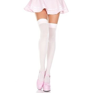 Opaque Stocking Thigh High